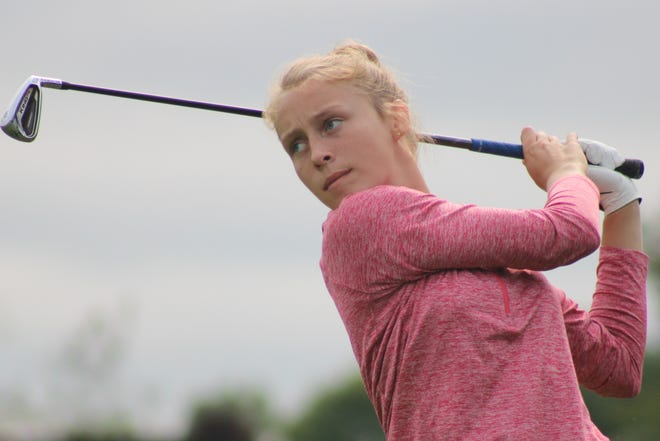Abbie Retherford of Ravenna shot 81 at the Metro Athletic Conference girls golf tournament to finish as runner-up.