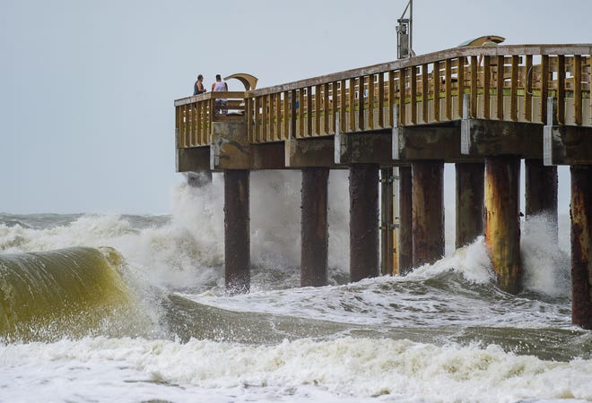 A nor'easter brings strong winds, high surf and tides and dangerous currents to St. Augustine Beach on Sunday, Sept. 20, 2020.