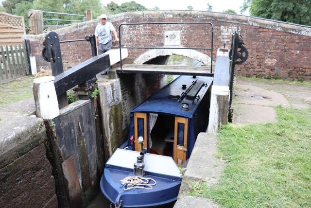 Fairfield Harbour resident Tony Difede worked a lock on an English canal. [CONTRIBUTED PHOTO]