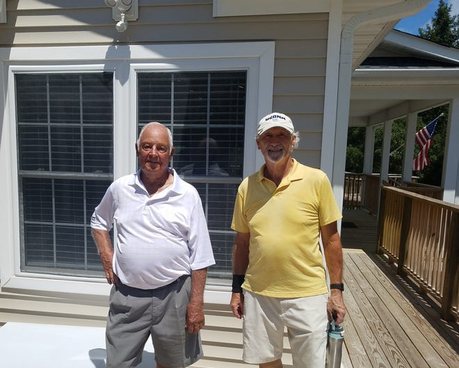 The Harbour Pointe Men's Golf Association winners were (left) Red Tees, Larry Ervin, and (right) Gold Tees, Steve Robichaud. [CONTRIBUTED PHOTO]