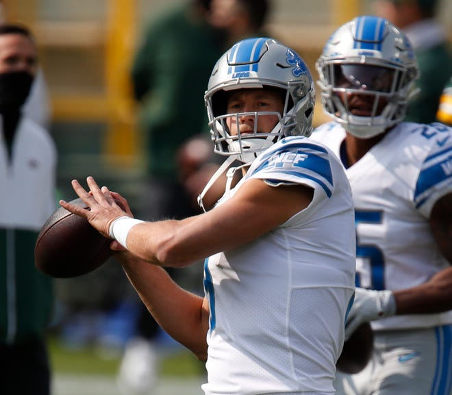 Lions quarterback Matthew Stafford missed the second half of the 2019 season with an injury.
