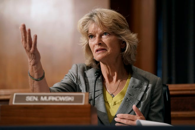 Sen. Lisa Murkowski, R-Alaska, speaks during a Senate Health, Education, Labor and Pensions Committee hearing to discuss vaccines and protecting public health during the coronavirus pandemic on Capitol Hill, Wednesday, Sept. 9, 2020, in Washington.
