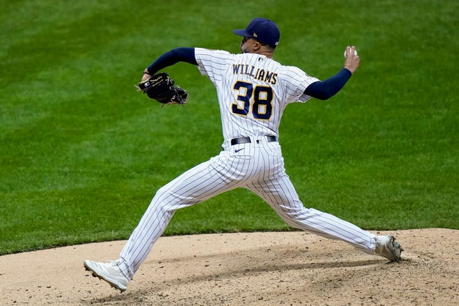 Devin Williams is the first rookie and first pitcher without a save to win the reliever of the year award in either league.