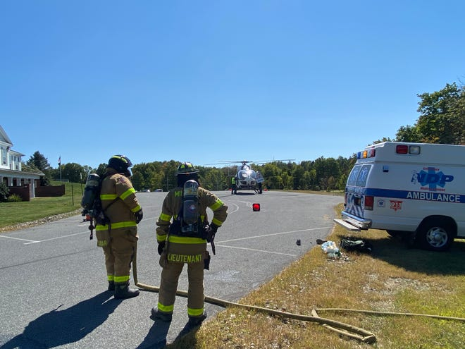A 45-year-old woman was airlifted from Milan to Westchester Medical Center on Saturday, Sept. 19, 2020.