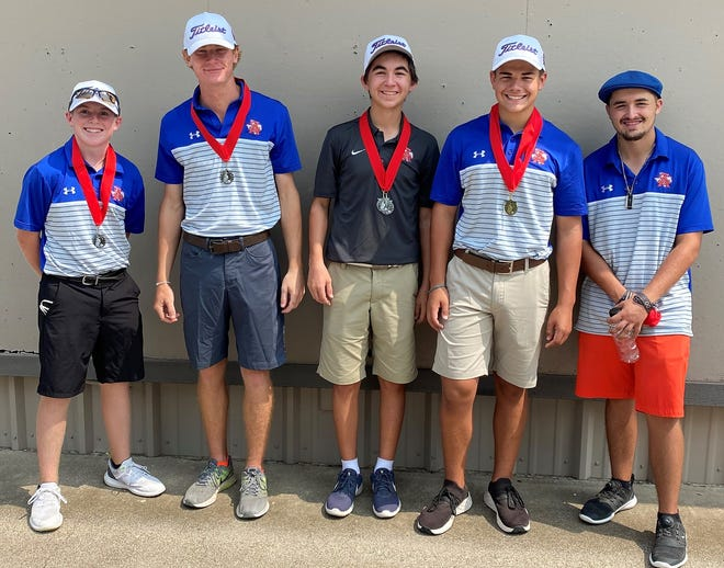 The San Angelo Central High School boys golf team is pictured after a tournament this past fall.