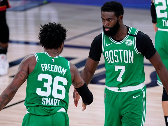 Jaylen Brown had 26 points and Marcus Smart had 20 for the Celtics.