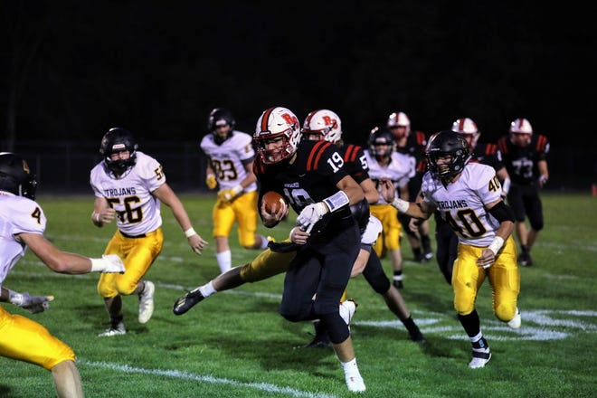 Junior tight end and linebacker Luke Patton is one of several players returning with quality experience for the Roland-Story football team in 2021.