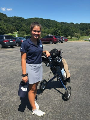 Central Valley sophomore Mya Mrkonja started playing golf just 18 months ago but has emerged as one of the Warriors' top golfers.