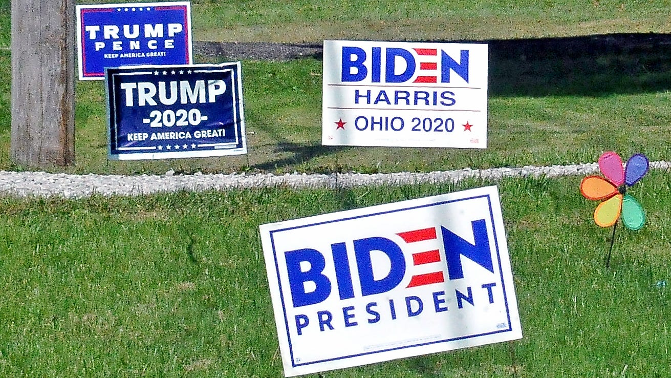 Biden Trump Signs Stolen From Milford Yards With Thief Caught On Video
