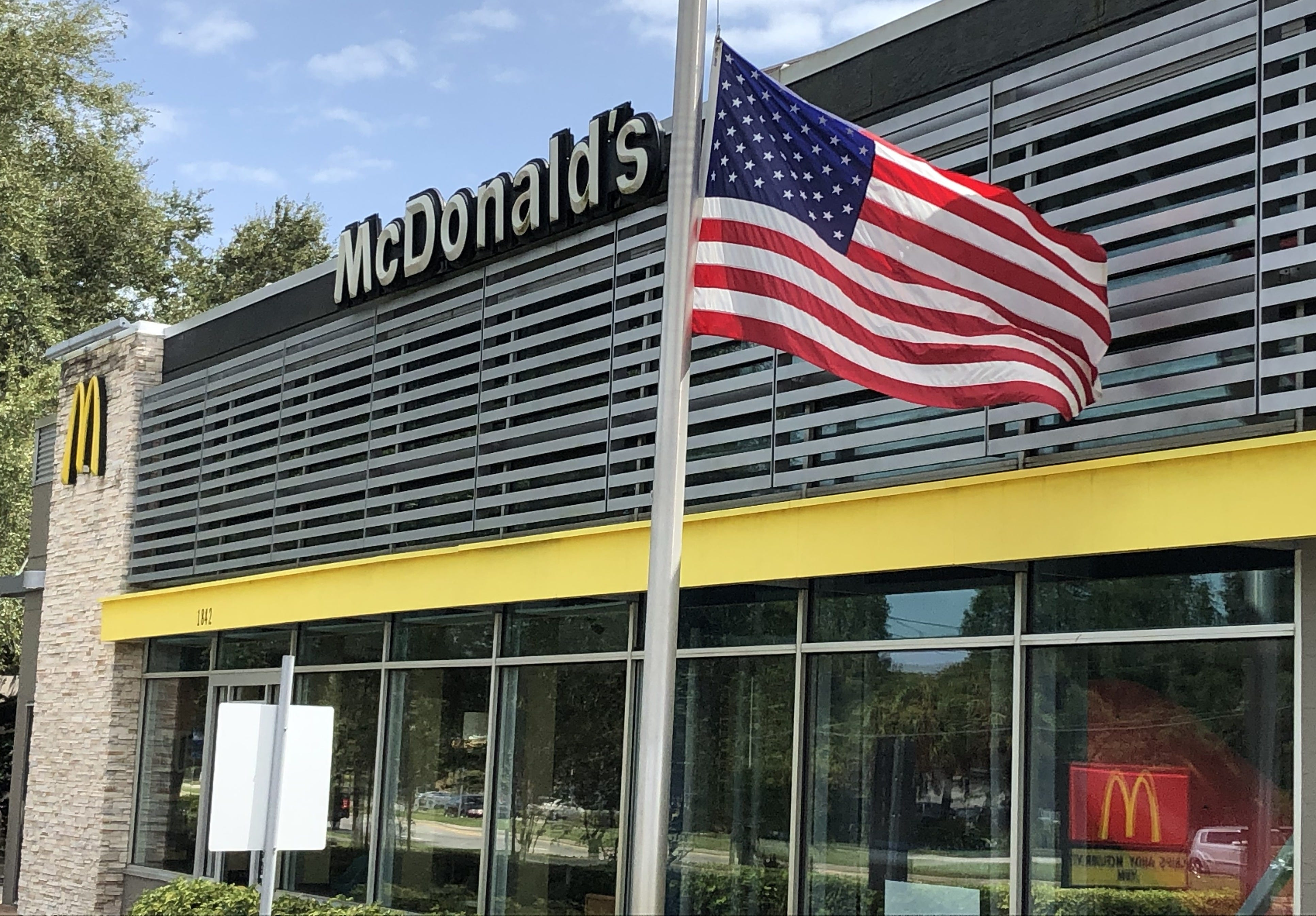 Fact check: McDonald s US flags have not been removed for BLM and antifa