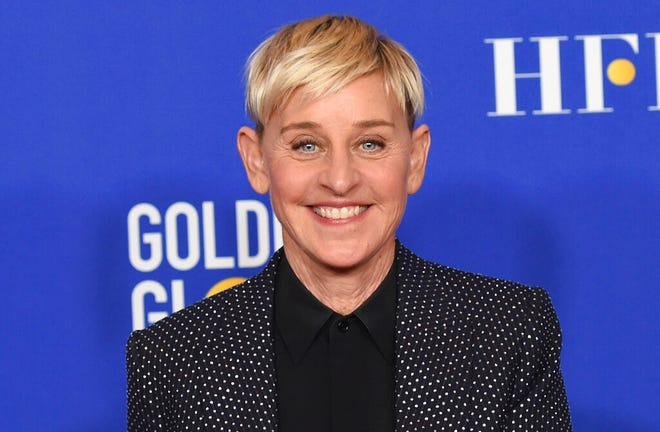 """Ellen DeGeneres poses in the press room at the 77th annual Golden Globe Awards on Jan. 5, 2020, in Beverly Hills, Calif. DeGeneres says she'll be ready to talk when her daytime show returns this month after a staff shake-up prompted by allegations of a toxic workplace. """"I can't wait to get back to work and back to our studio. And, yes, we're gonna talk about it,"""" DeGeneres said in a statement announcing the show's Sept. 21, 2020, start of its 18th season."""