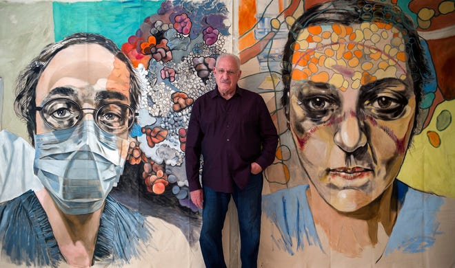 West Palm Beach resident Mark Cohen's show at the Armory Art Center honors COVID-19 front-line workers.