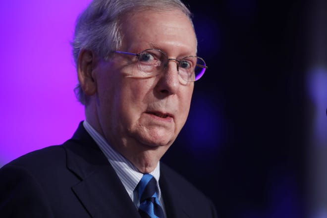 WASHINGTON -- Could Senate Majority leader Mitch McConnell (pictured) work with House Speaker Nancy Pelosi suggest a nominee to the U.S. Supreme Court. [Photo by Chip Somodevilla/Getty Images]