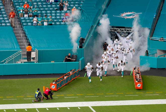 The Dolphins take the field for their 2020 home opener against the Bills.