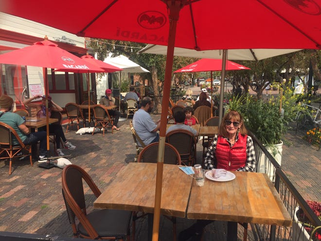 Outdoor dining in Aspen and Breckenridge offered lots of options.