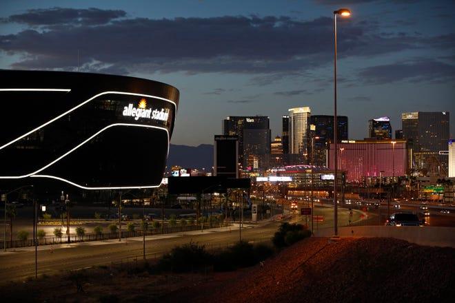 The Las Vegas Raiders open Allegiant Stadium against the New Orleans Saints on Monday. (AP Photo/John Locher, File)
