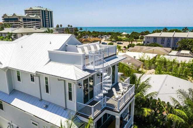 """This is one of three seven-bedroom luxury homes already or soon-to-be operating as short term """"hotel house"""" rentals on Lido Key. They are all owned by Lido Key Vacations, an investment group headed by Bradenton developer Shawn Kaleta."""
