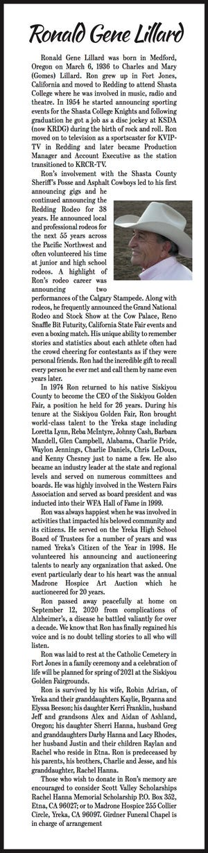 Obituary: Ronald Gene Lillard
