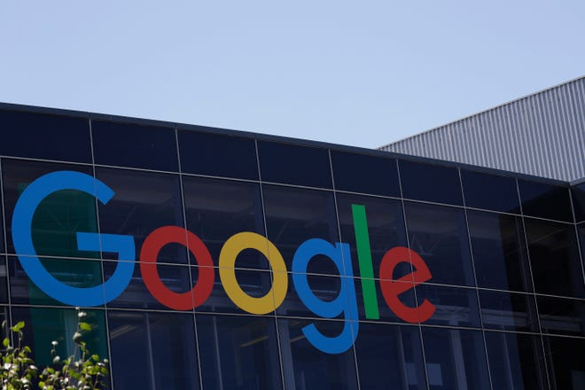The Google logo is shown at the company's headquarters in Mountain View, Calif.