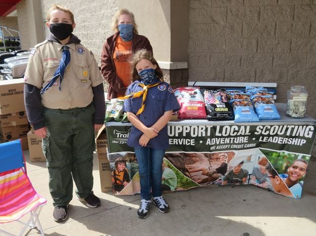 Cub Scout Pack 9 held its annual popcorn selling fundraiser. Scouts wore masks and kept the CDC social distance while offering popcorn to the community. Good weather helped with the sale, which went great. Everyone had a great time. Selling gives Scouts the opportunity to experience marketing up front and close by.