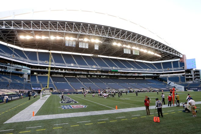 CenturyLink Field stadium has been without fans throughout the 2020 home schedule for both the Seattle Seahawks and Seattle Sounders. The stadium was officially renamed Lumen Field before Thursday's NFL game, to reflect the recent name change for the telecommunications company.