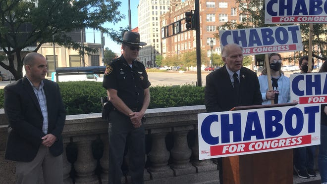 Cincinnati FOP president Dan Hils and Hamilton County Sheriff Jim Neil, a Democrat, endorsed U.S. Rep. Steve Chabot, a Westwood Republican, on Monday.