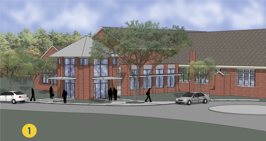 A rendering of proposed renovations to the Mauldin Cultural Center.