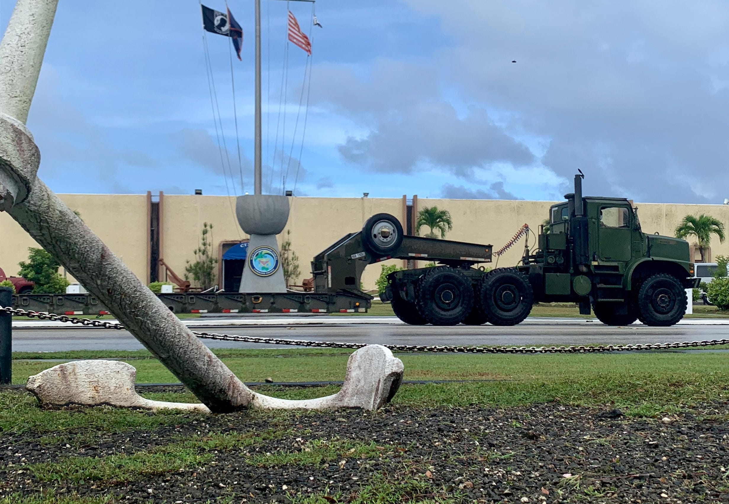 Nearly 50 Sailors from Navy Cargo Handling Battalion 1 and Naval Mobile Construction Battalion 133 deploy four tactical convoy operations from Camp Covington in support of Valiant Shield 2020.