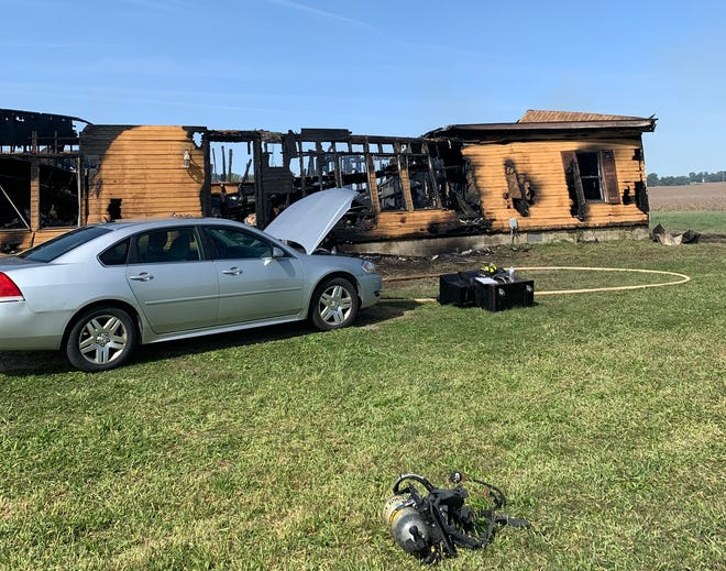 A man and woman died Monday morning in this house fire in eastern Carroll County. The cause of the fire is under investigations, and the victim's identities have not been released.