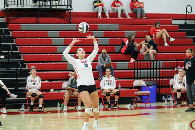 Shelby's Marleigh Albert had a huge day setting up her hitters in a 5-set win over South Central last week.