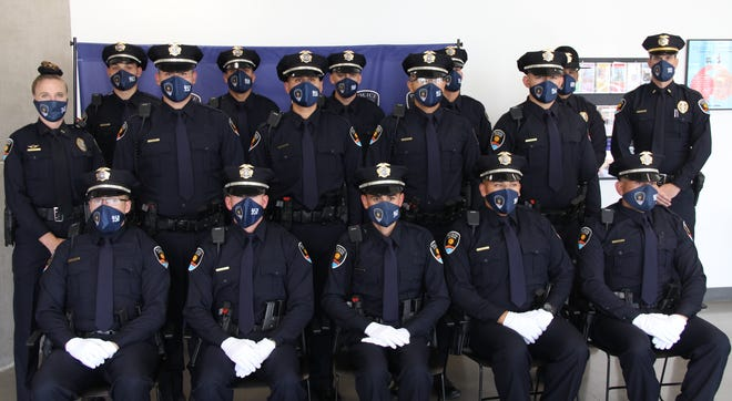 Las Cruces Police Department graduated 13 police cadets Friday, Sept. 18, 2020, from its state-certified law enforcement training academy