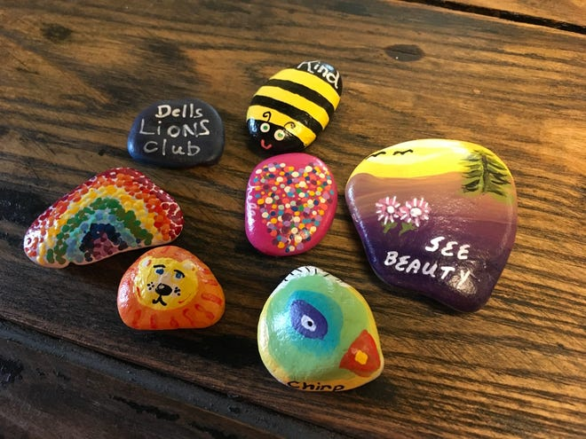 The Dell Rapids Lions Club is distributing Kindness Rocks around the community.