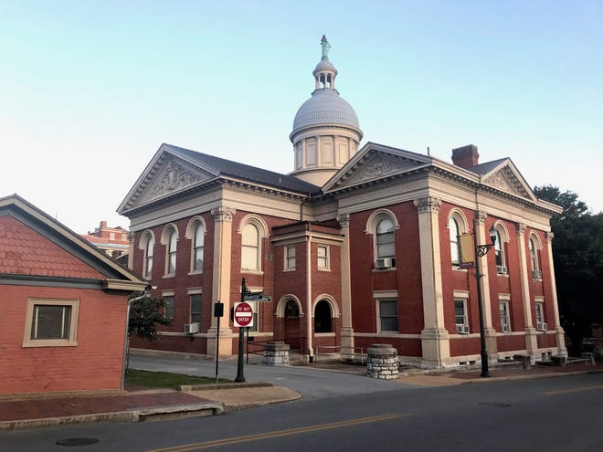 Purchase options are secured for nine properties surrounding Augusta County Circuit Courthouse in downtown Staunton, Virginia. Photograph taken on Monday, Sept. 21, 2020.
