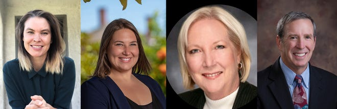 (From left) Margaux Bangs, Caitlin Barringer, Leslie Cornejo and Andy Sobel are candidates in the Santa Paula City Council election in November.