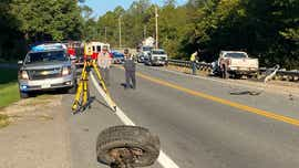 Pair injured in crash with entrapment