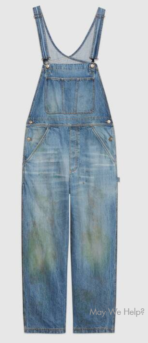 Gucci's grass-stained overalls cost $1,400