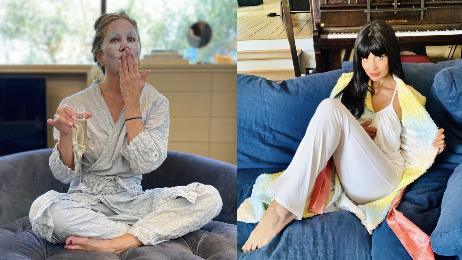 8 pajama sets inspired by celebrities who wore them to the 2020 Emmys