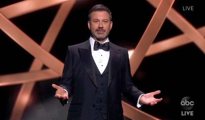 Jimmy Kimmel hosted the 2020 Emmy Awards.