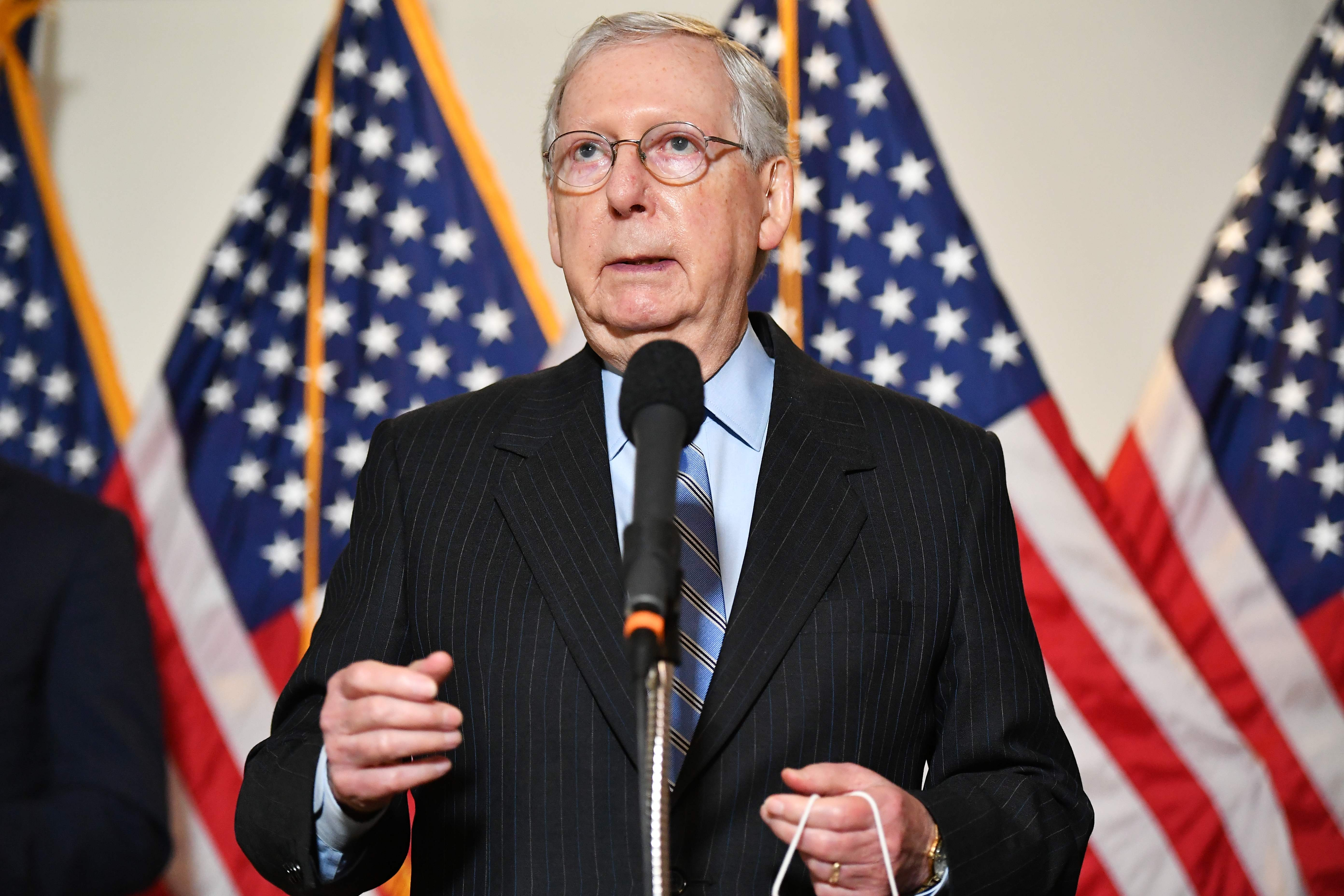Election 2020 Mitch Mcconnell Gop Senators Inch Away From Trump