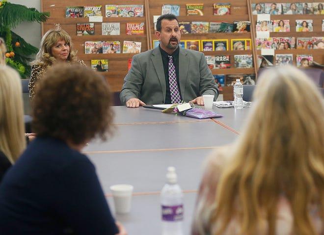 Barberton Superintendent Jeff Ramnytz speaks in 2017.