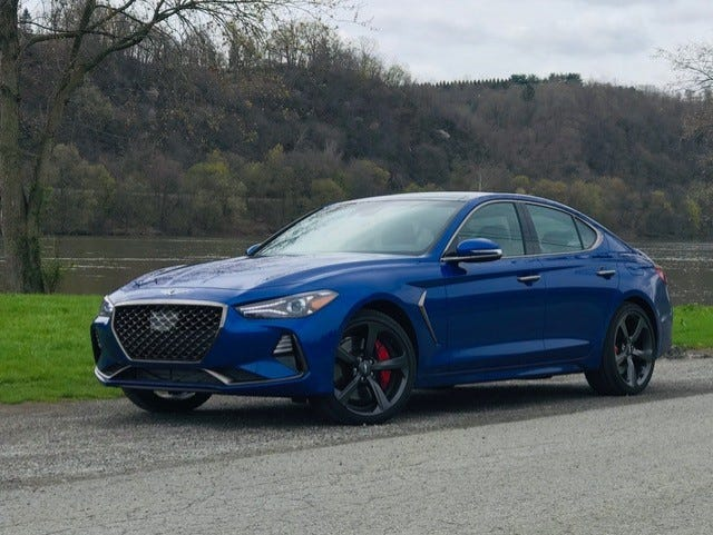 Exterior styling is what draws you in with the Genesis G70 3.3T AWD sedan.