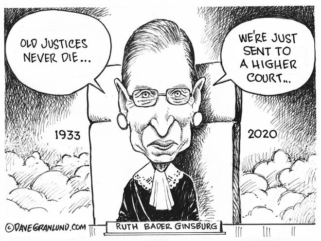 Dave Granlund cartoon in remembrance of late Supreme Court Justice Ruth Bader Ginsberg.