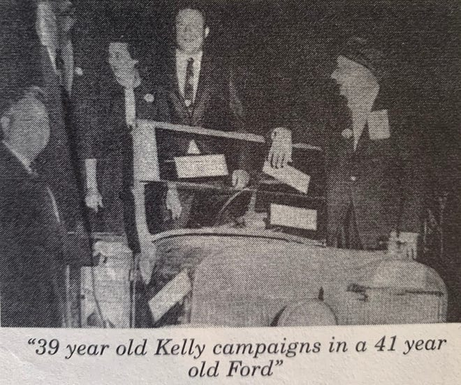 39 year old Kelly campaigns in a 41 year old Ford