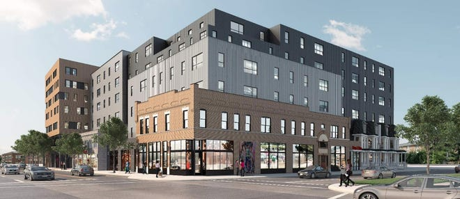 Developers now plan a six- to seven-story apartment building at the southwest corner of North High Street and King Avenue in the University District. The University Impact District Review Board will take up the project at its Thursday meeting.