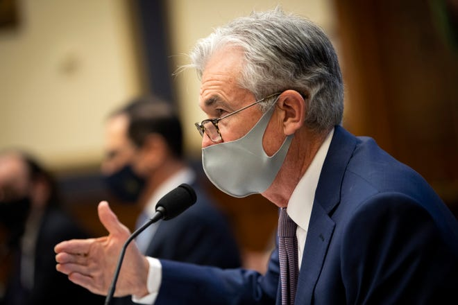 Federal Reserve Chair Jerome Powell testifies during a House Financial Services Committee hearing about the government's emergency aid to the economy in response to the coronavirus on Capitol Hill in Washington on Tuesday, Sept. 22, 2020.  [Caroline Brehman/AP]