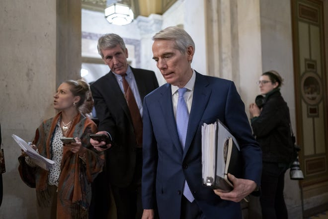 Sen. Rob Portman, pictured in January leaving the Capitol, has said he would support voting on President Donald Trump's nominee to replace Justice Ruth Bader Ginsburg. [AP/J. Scott Applewhite]