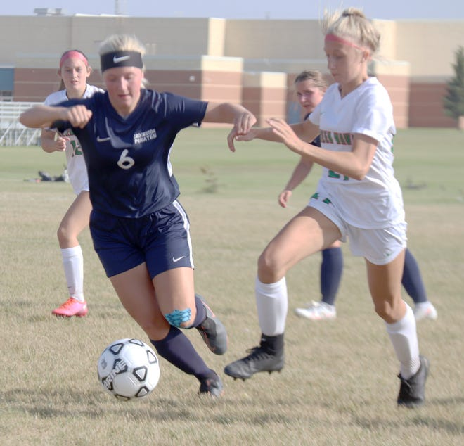 Kenze Epema scored Crookston's first goal against East Grand Forks in three years, but the Pirates fell 4-1 to the Green Wave on Monday.