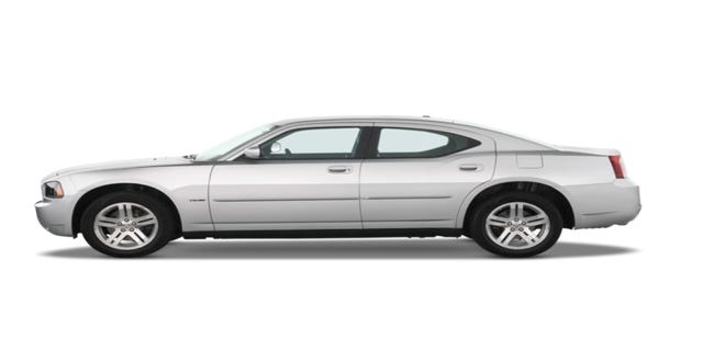 Police say three suspects were in a car similar to this one when they shot at another car.