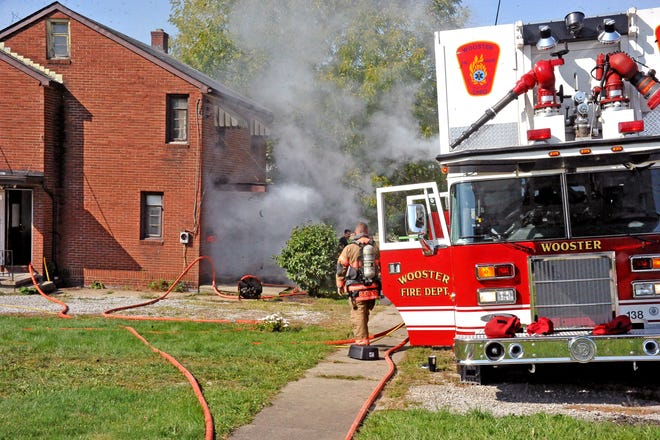 Wooster Fire Department is training at a house on West Henry Street in Wooster courtesy of Bogner Construction.  training will continue for a week or two before the house is razed.