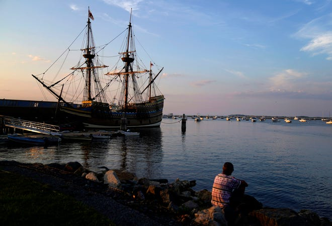 "The Mayflower II, a replica of the original Mayflower ship that brought the Pilgrims to America 400 year ago, is docked in Plymouth, Mass., last month, days after returning home following extensive renovations. A disease outbreak that wiped out large numbers of the Native inhabitants of what is now New England gave the Pilgrims a beachhead in the ""New World."" So, some historians find it ironic that a pandemic has put many of the 400th anniversary commemorations of the Mayflower's landing on hold."